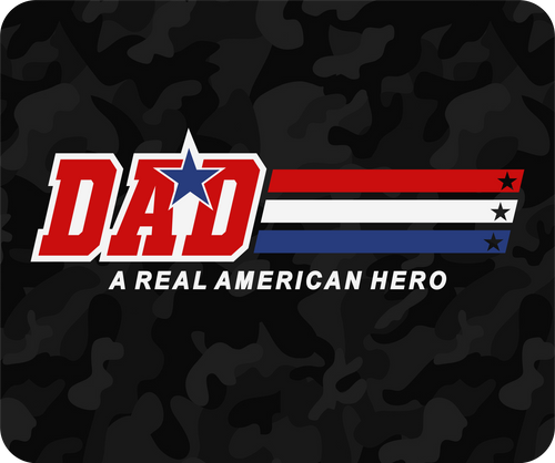 Dad - A Real American Hero: Mouse Pad