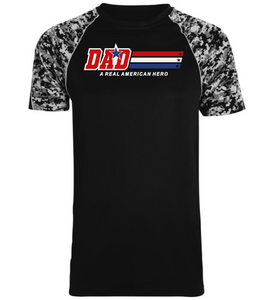 Dad - A Real American Hero - Performance T-Shirt
