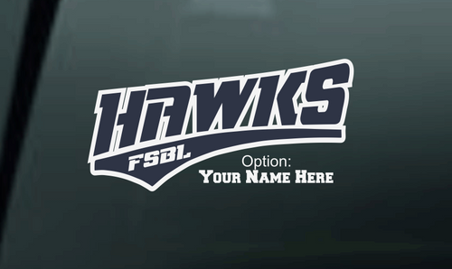 Hawks Car Decal-001