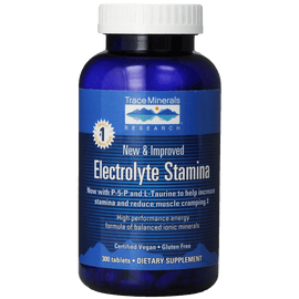 Trace Minerals Research Performance Electrolyte Stamina High Performance Energy Formula of Balanced Ionic Minerals 300 Tablets