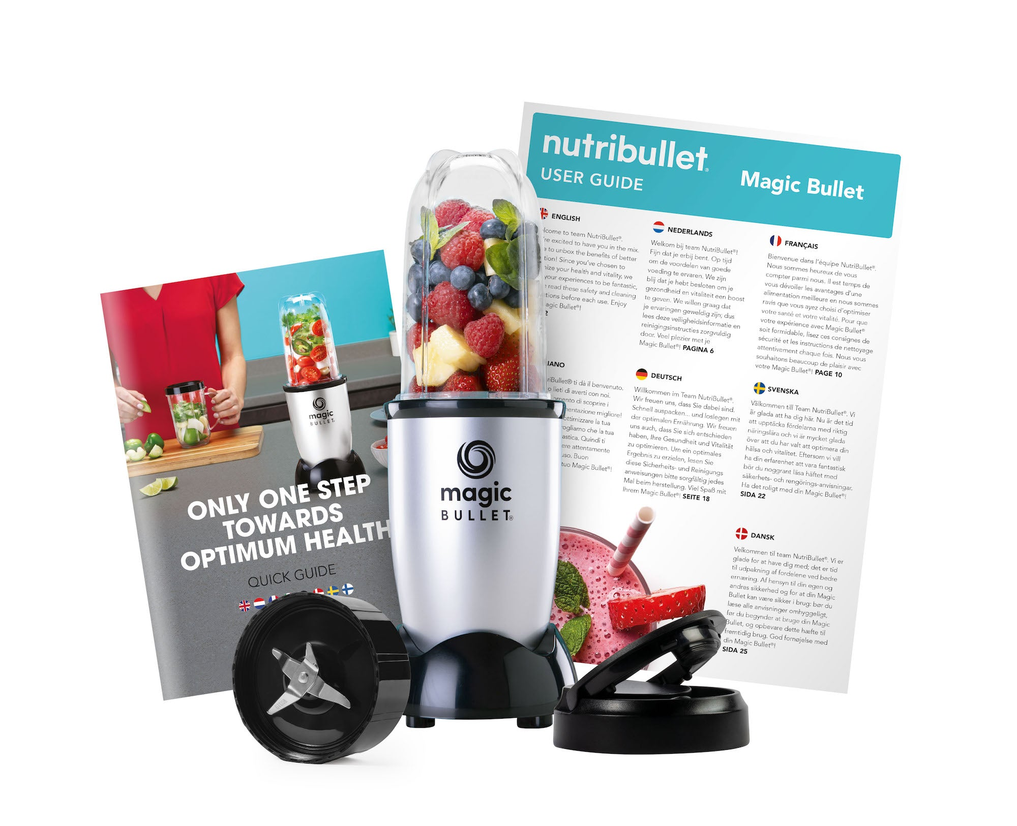 Magic Bullet Compact 200W (Silver, 4-delar, Mixer/Blender)