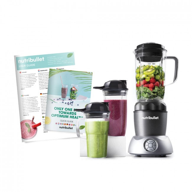 NutriBullet Select 1000W (Grey, 8-delar, Mixer/Blender)