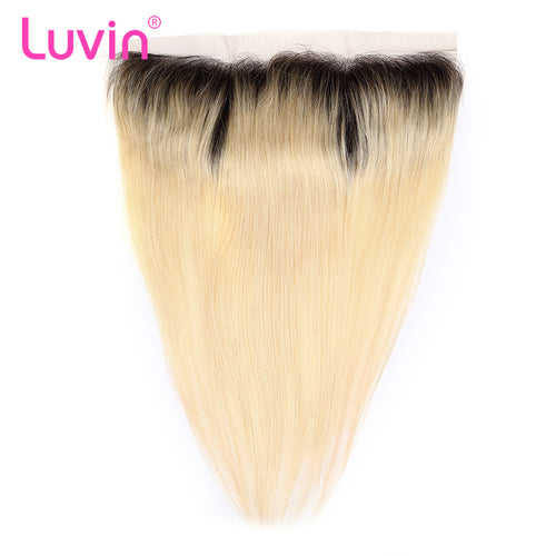 Lace frontal Blonde color #1B613 straight 13*4inch