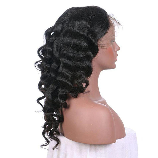 Breathable 360 lace wig pre plucked loose wave