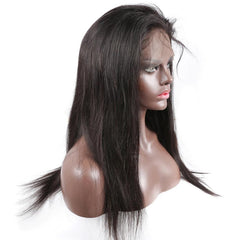 Breathable 360 lace wig pre plucked straight