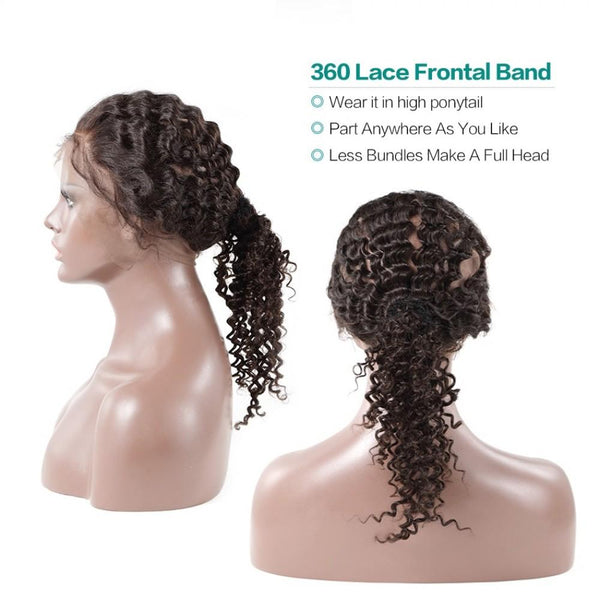 360 Lace Frontal Brazilian Hair Deep wave