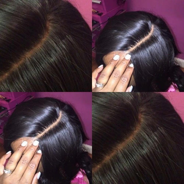 4X4 Silk Base Closure Brazilian Hair Natural Straight