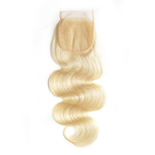 Human blonde hair lace closure #613 body wave