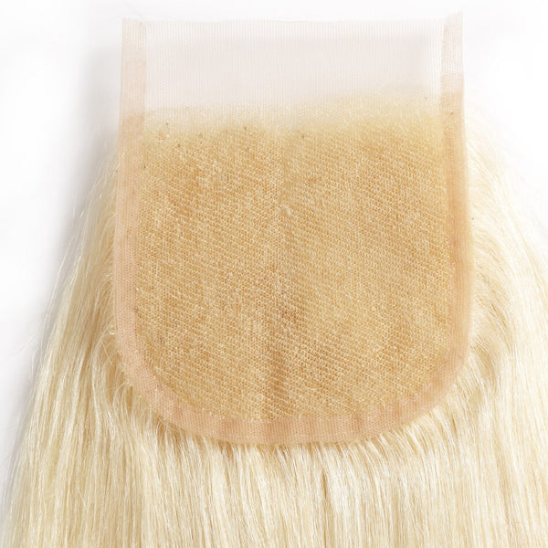 Human blonde hair lace closure #613 straight