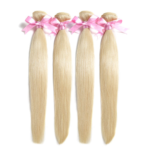 Human Remy Blonde Hair #613 Natural Straight