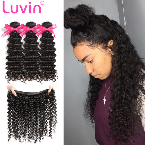 100% Human Virgin Hair Natural deep curly