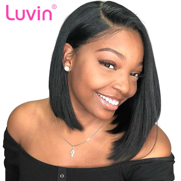 Bob wig human hair 13x6 lace wig straight