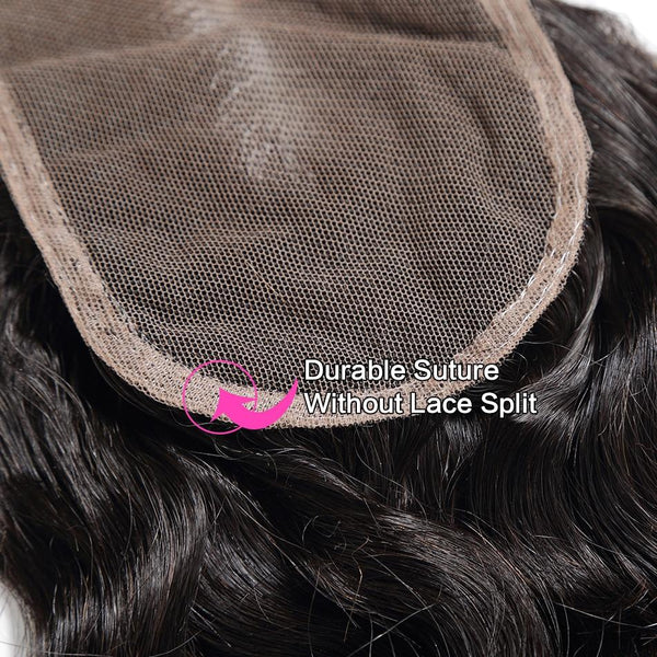 100% human hair lace closure loose wave