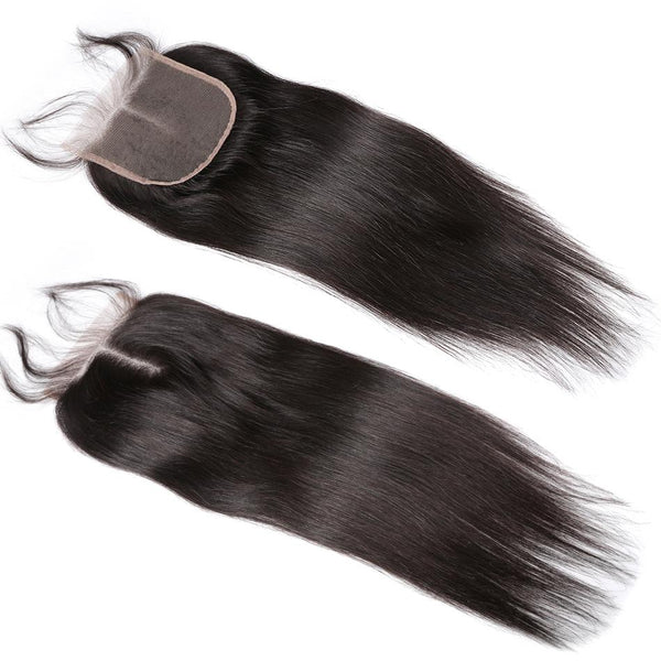 7X7 Lace Closure Brazilian Hair Natural Straight
