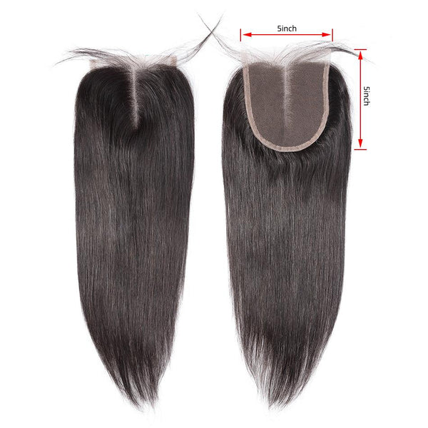 5x5 Lace Closure Brazilian Virgin Hair Straight