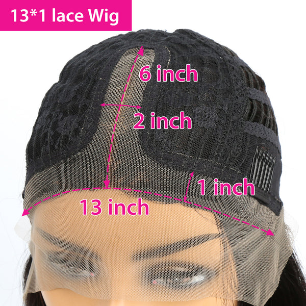 4x4 #1B/99J Highlight Straight Human Hair Lace Front Wig
