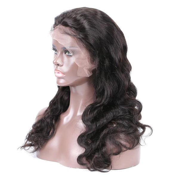Pre bleached knots best virgin human hair full lace wig body wave
