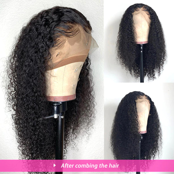 Pre plucked frontal lace wig deep curly