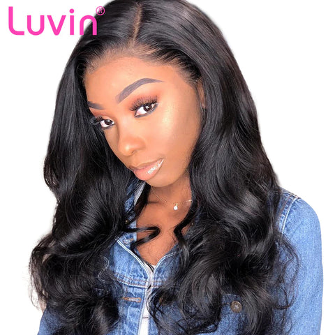 Pre plucked frontal lace wig straight