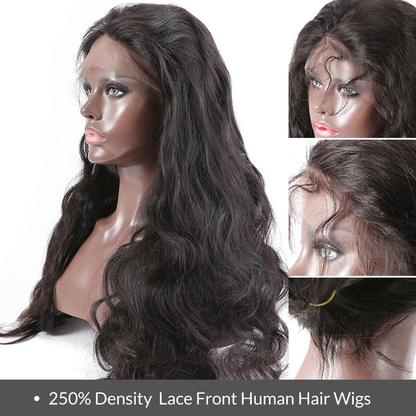 Pre plucked frontal lace wig body wave