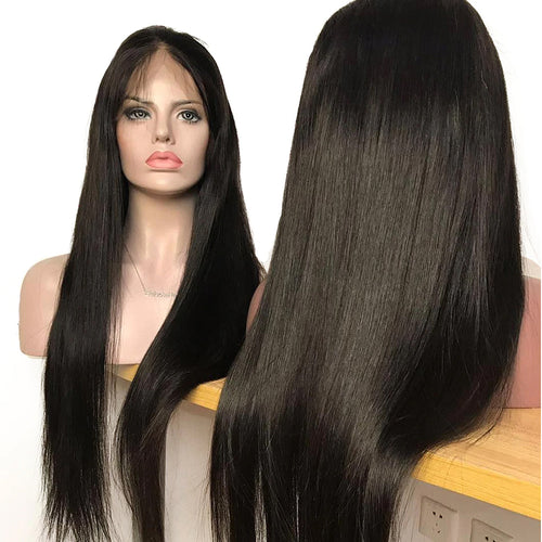 Undetectable transparent lace best virgin straight hair HD full lace wig