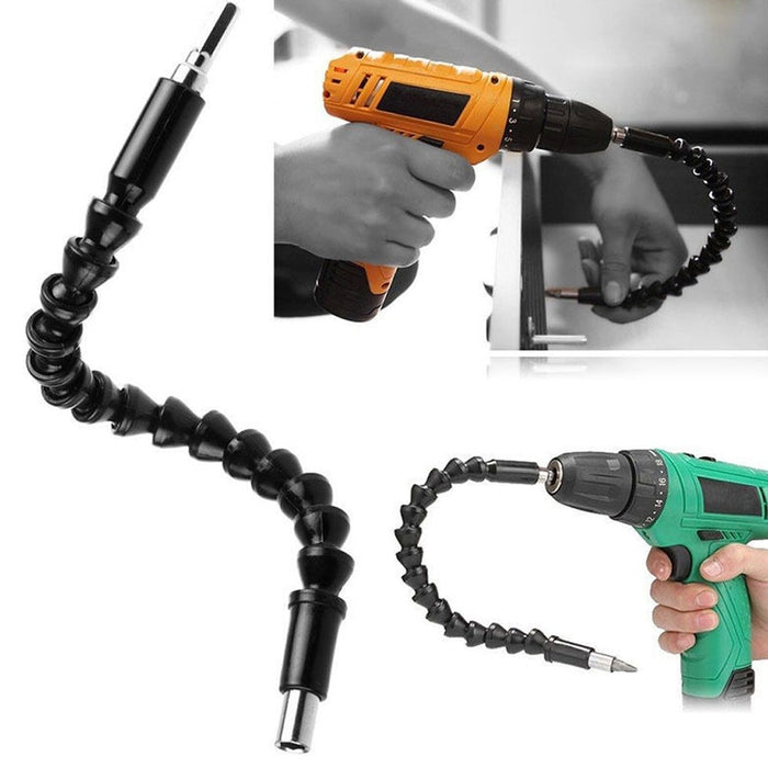 Flexible Shaft Electronic Drill Screwdriver Bit Holder Connect Link - GEEKMANN✓