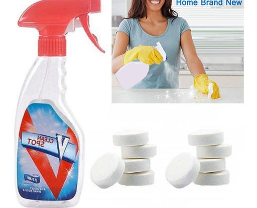 10Pcs Effervescent Spray Cleaner Set Clean Spot Home Cleaning Isolation - GEEKMANN✓