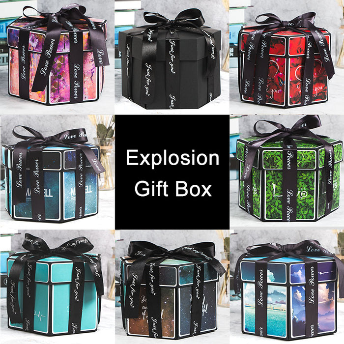 Surprise Love Explosion Box Gift Scrapbook DIY - GEEKMANN✓