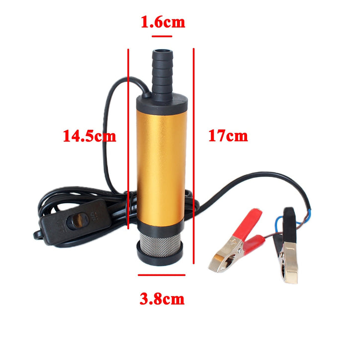 12V 24V DC electric submersible oil pump - GEEKMANN✓