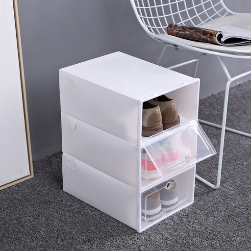 1pack Transparent Shoe Box Dustproof Storage Box Can Be Placed Shoe Cabinet - GEEKMANN✓