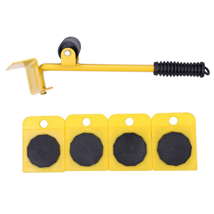 5Pcs Furniture Roller Set Removal Lifting Moving Handling Tool Heavy - GEEKMANN✓
