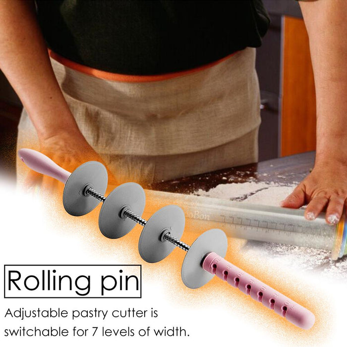 Rolling Pin With Dough Mat Multifunctional Bread Slicer Noodle Forming Mold - GEEKMANN✓