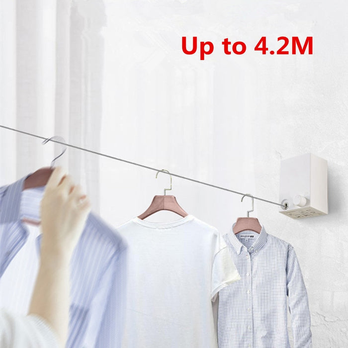 Telescopic Stainless String Invisible Clothesline Retractable Clothes Dryer - GEEKMANN✓
