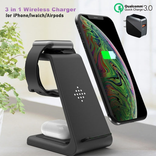 3 in 1 Wireless Charger 10W Fast Charging - GEEKMANN✓