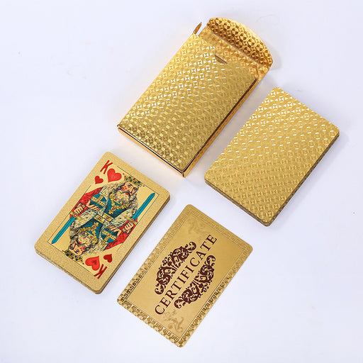 playing Cards Plastic Cards Poker Cards gold poker card - GEEKMANN✓