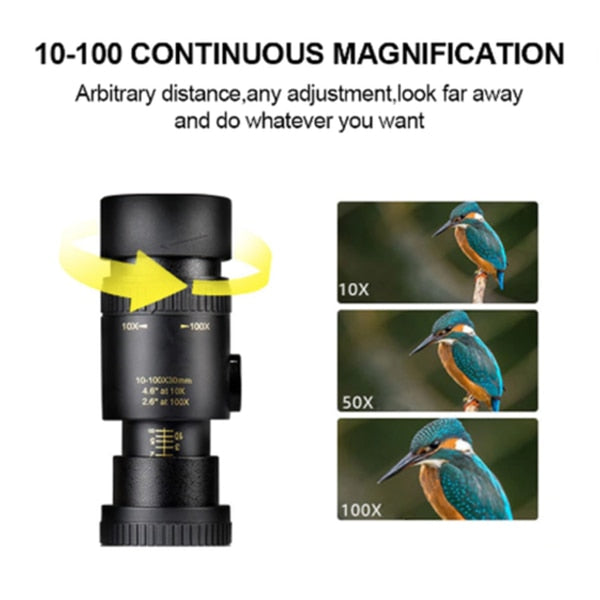 4K 10 300X40mm Super Telephoto Zoom Monocular Telescope - GEEKMANN✓
