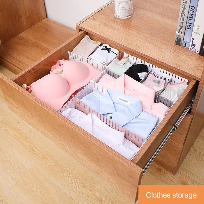 8pcs Drawer Divider Adjustable Plastic Combination Storage - GEEKMANN✓