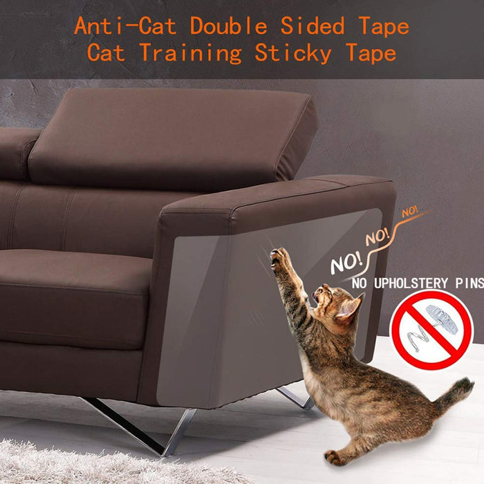 8pcs/set Cat Scratching Tape Sticker Clear Carpet Sofa Protection - GEEKMANN✓