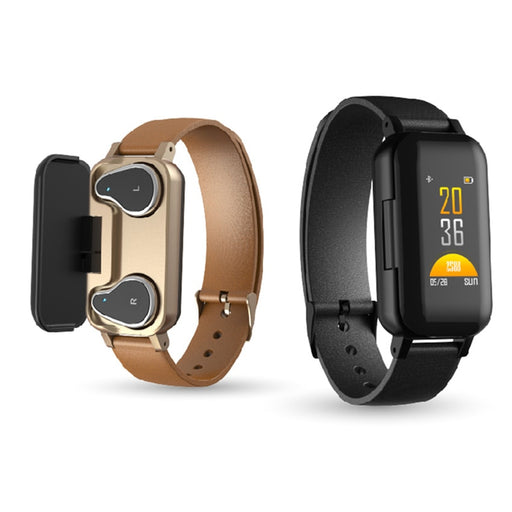 Smartwatch Wireless Dual Earphone bracelet Bluetooth - GEEKMANN✓