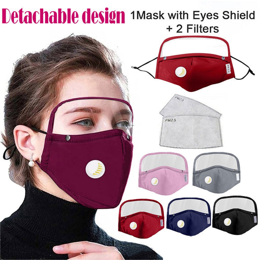 Adult washable cotton mask with eye shield - GEEKMANN✓