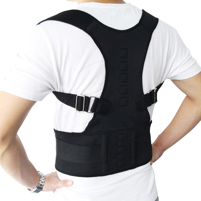 Magnetic Therapy Posture Corrector Brace Shoulder Back Support - GEEKMANN✓