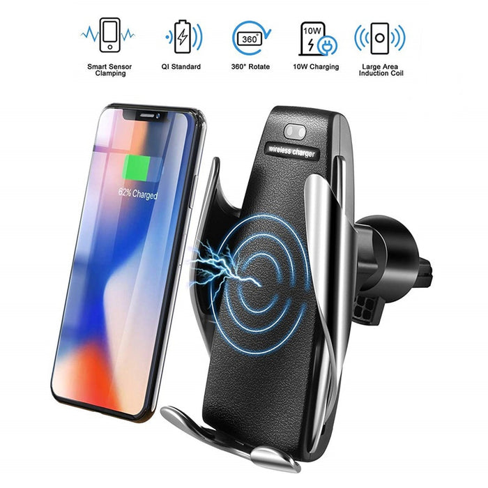Auto Clamping Fast Charging Phone Holder for Car - GEEKMANN✓