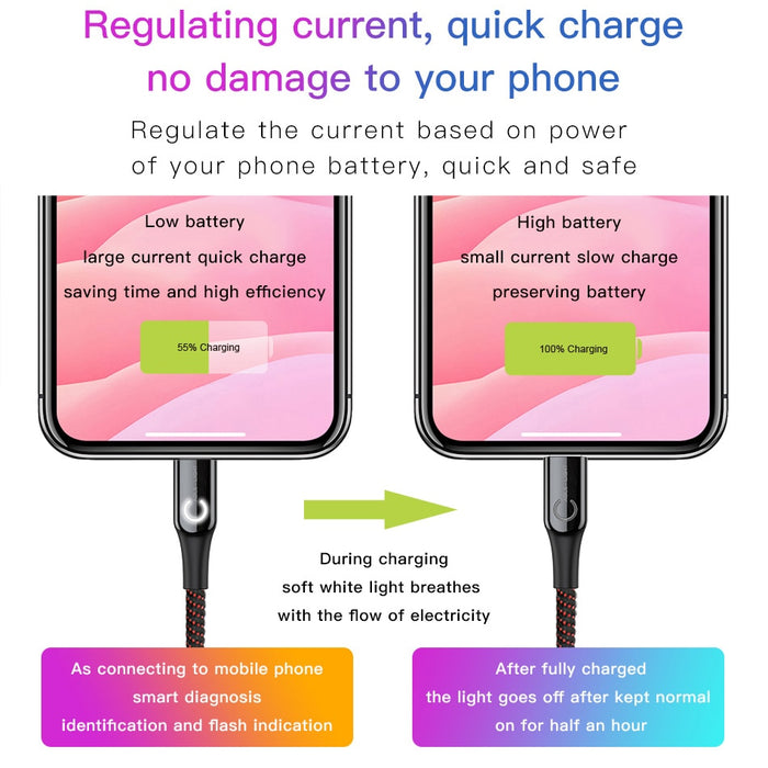 USB Charging Cable for iPhone - GEEKMANN✓