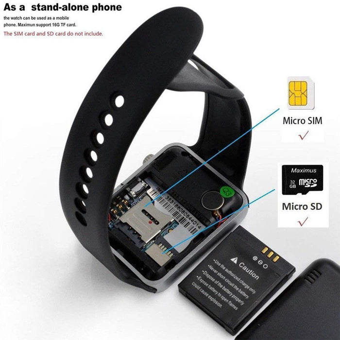 Bluetooth Smart Wrist Watch A1 GSM Phone For Android Samsung iPhone Man Women watch - GEEKMANN✓