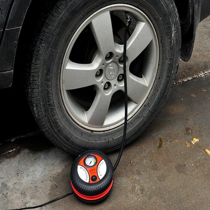 Car Air pump Portable Electric Mini Tire Inflator Compressor Auto - GEEKMANN✓