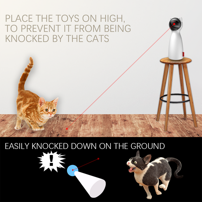 Creative Cat Pet LED Laser Funny Toy Smart Automatic Cat Exercise - GEEKMANN✓