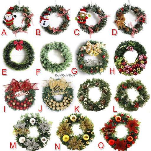 Cute Santa Claus Christmas Wreath Mini Snowman Home Decoration - GEEKMANN✓