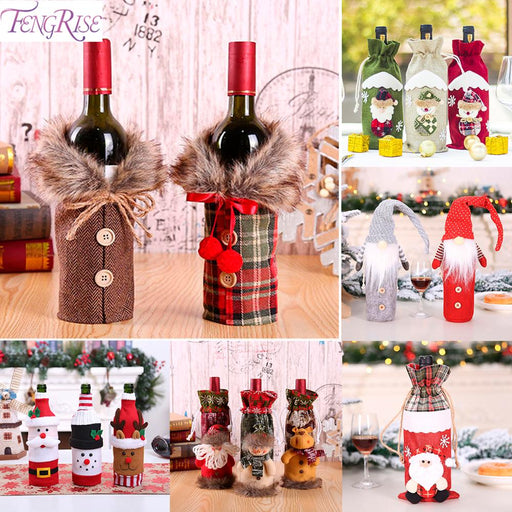 Santa Claus Wine Bottle Cover Christmas Decorations - GEEKMANN✓