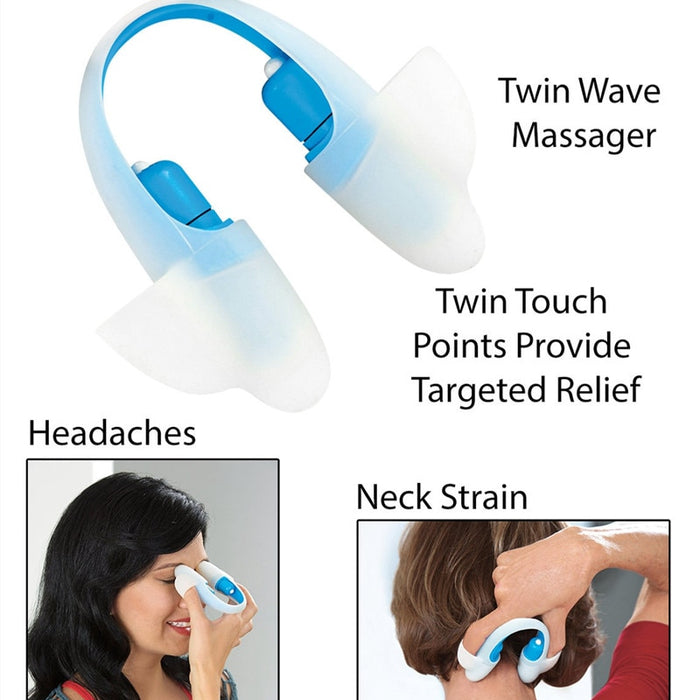 Acupoint Massager Pain Stress Relief Twin Touch Points Relaxation - GEEKMANN✓