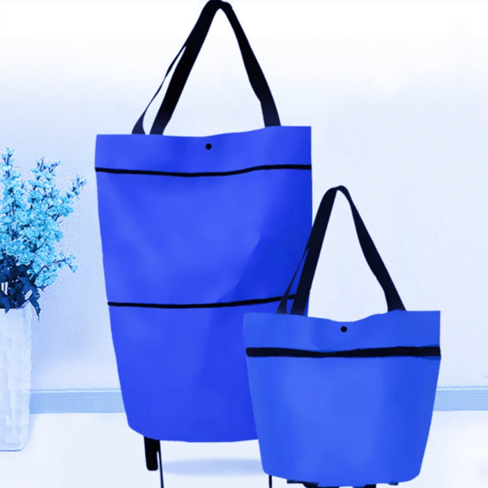 Foldable Colorful Shopping Cart Bag Portable Shopping Trolley Bag - GEEKMANN✓